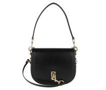 Umhängetasche The Saddle Bag Leather Black