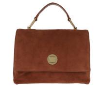 Satchel Bag Liya Suede Crossbody Bag Mars Dust cognac