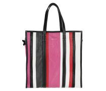 Bazar Shopper M Striped Rose Hortensia Tote rot