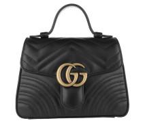Umhängetasche GG Marmont Mini Top Handle Bag Black schwarz