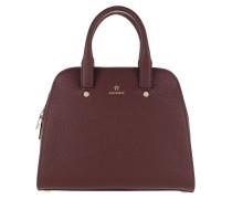 Ivy Handle Bag Small Burgundy Tote