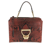 Umhängetasche Arlettis Python Shiny Handle Crossbody Bag Bourgogne rot