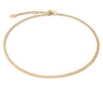 Halskette Cuban Link Choker Vermeil Polished Gold