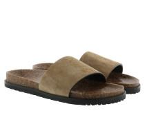 Joan 05 Slip On Leather Sandal Mist Schuhe