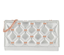 Cambre Quilted Bow Crossbody Bag Matinee Silver Tasche