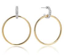 Ohrringe Itri Grande Earrings White Zirconia 18K Gold Plated