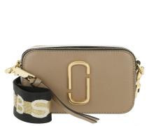 Umhängetasche Logo Strap Snapshot Small Camera Bag Leather French Grey/Multi grau