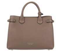 House Check Derby Leather Tote MD Dark Sand Tote