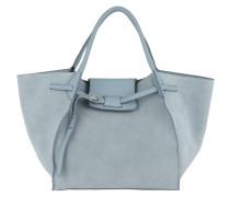 Medium Big Bag Soft Calfskin Medium Blue Tote