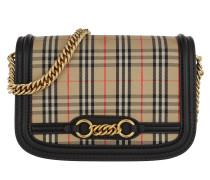Link Shoulder Bag Leather Black Tasche beige