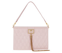 Clutch Gem Bag Large Diamon Quilted Leather Pale Pink rosa