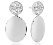 Ohrringe Novara Uno Grande Earrings White Zirconia 925 Sterling Silver