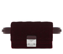 Karl X Kaia Velvet Bum Bag Bordeaux n