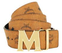 Gürtel Reversible Belt 24K Gold Buckle Cognac cognac