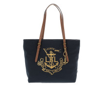 Seabrook Tote Canvas Navy/Gold Shopper