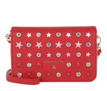 Patterned Crossbody Bag Stars Red Tasche