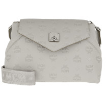 Umhängetasche Essential Monogrammed Leather Crossbody Small Dove grau