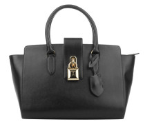 Large Padlock Handbag Black Tote