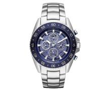 MK9024 Jet Master Automatic Watch Silver-Tone Uhr blau