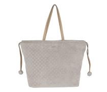 Velluto Stampa Sienna Handbag Light Grey Shopper