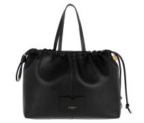 Shopper Tag Shopping Bag Leather Black schwarz