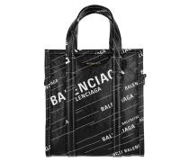 Tote Bazar Shopper XS Bag AJ Leather Noir/Blanc schwarz