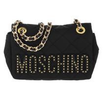 Metal Chain Shoulder Bag Black Tasche