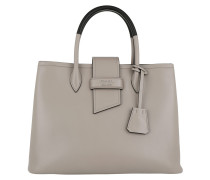 Shopping Bag Soft Calf Pomice/Nero
