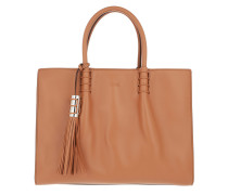 Lady Moc Tote Medium Leather Brandy Chiaro Tote