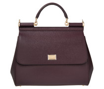 Tasche - Sicily Dauphine Leather Regular Satchel Mosto - in lila - Henkeltasche für Damen
