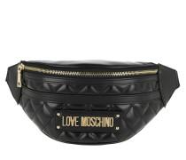 Gürteltasche Quilted Pu Mix Belt Bag Nero schwarz