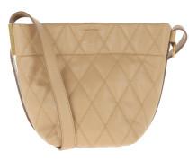 Beuteltasche Mini GV Bucket Bag Quilted Leather Beige Camel beige