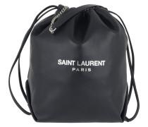 Umhängetasche Teddy Bucket Bag Leather Midnight Blue marine