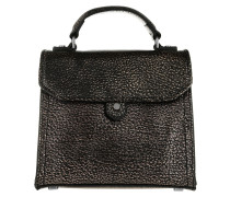 Glendale Washed Metallic Heavy Pebble Tote Oil Black