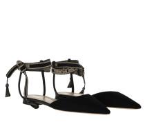 Schuhe Jadior Slingback Flats Black/Blue schwarz