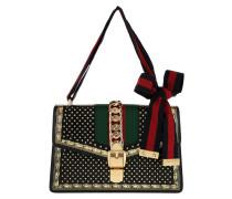 Satchel Bag Sylvie Moon&Stars Small Leather Black schwarz