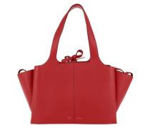 Tri-Fold Small Shopper Bright Red Shopper