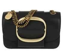 Umhängetasche Hopper Shoulder Bag Small Leather Black schwarz