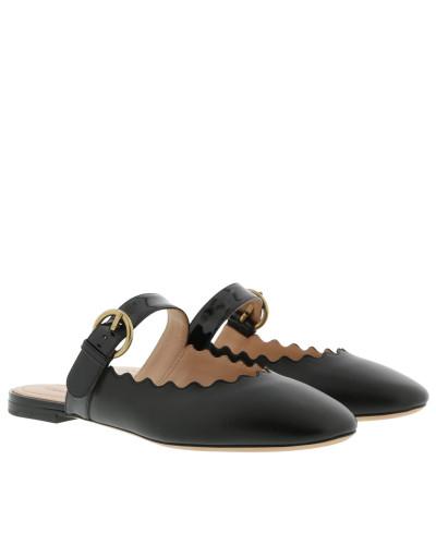 Lauren Mules Leather Black Schuhe