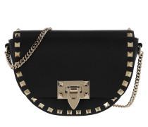 Umhängetasche Rockstud Crossbody Bag Leather Black
