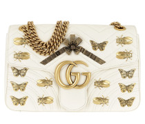 GG Marmont Animal Studs Shoulder Bag White Tasche