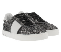 Glitter Sneakers Ruthenium/White Sneakers silber