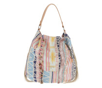 Fringed Bucket Bag Multicolor Hobo Bag