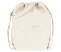 Beuteltasche Teddy Bucket Bag Leather Crema weiß