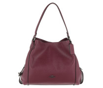 Tote Polished Leather Edie 31 Shoulder Bag Dark Berry rot