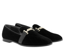 Double T Quilted Velvet Loafer Black Schuhe