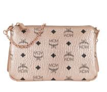 Umhängetasche Millie Visetos Crossbody Bag Medium Champagne Gold rosa