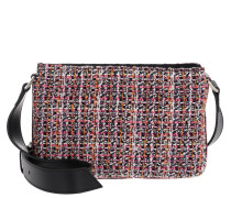 Altavela Tweed Crossbody Bag Multi Nero/Rosa Tasche