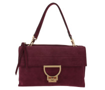 Arlettis Suede Crossbody Bag Large Grape Tasche