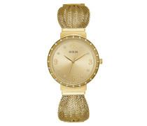 Uhr Women Quartz Watch Chiffon Gold